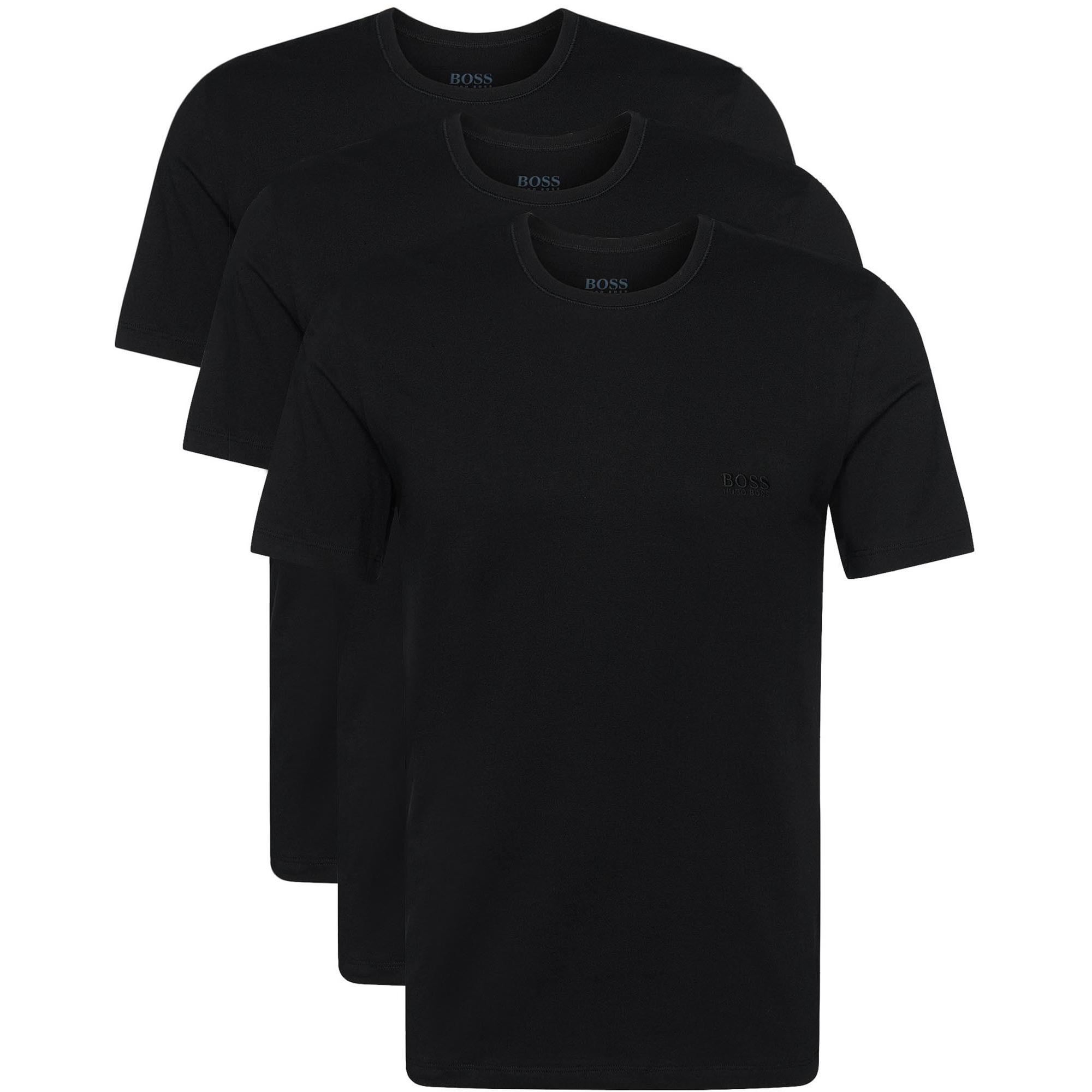 e66a0aa82 BOSS Hugo Boss 3 Pack Black Cotton T-Shirt | Stuarts London