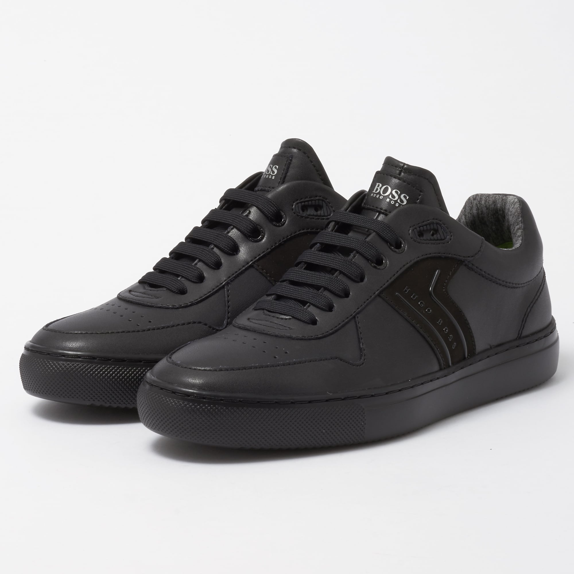 69d388bd3898 BOSS Green Black Enlight Tenn Trainers | Stuarts London | 50374612