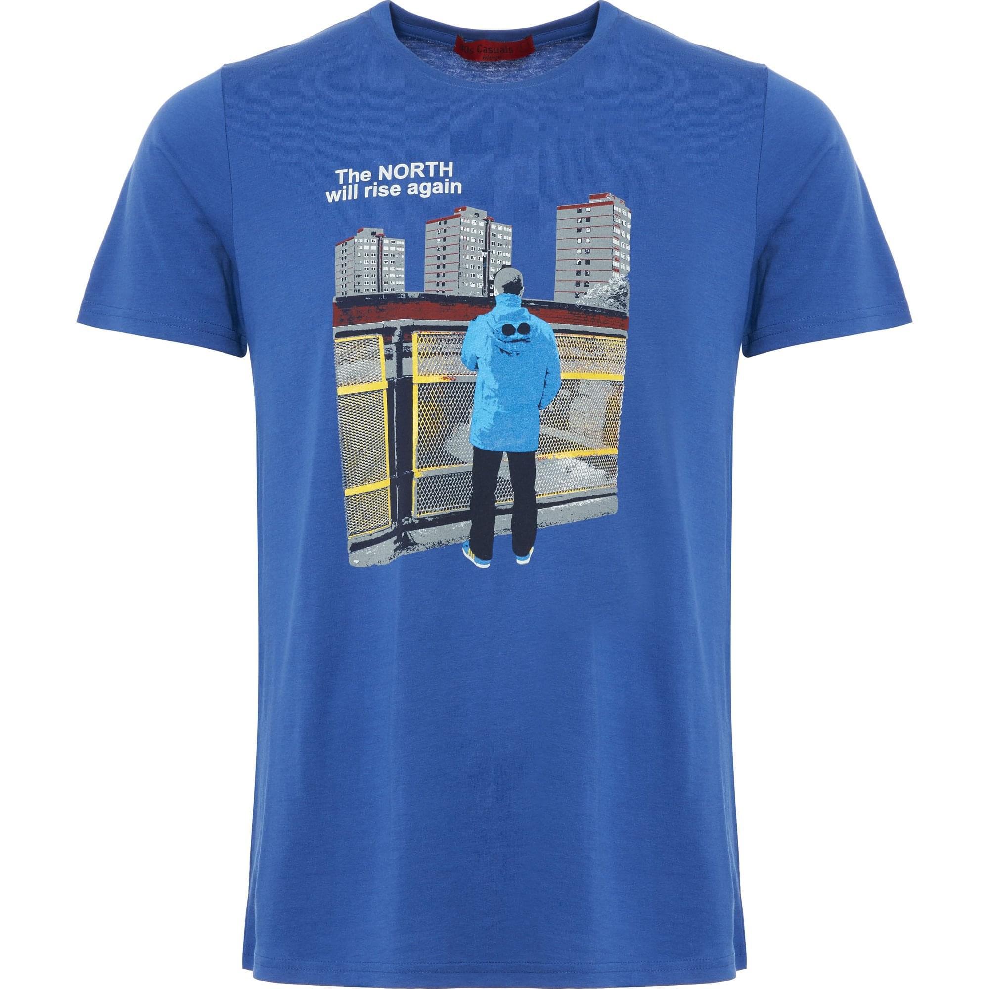 802e4465 Blue The North Will Rise Again T-Shirt