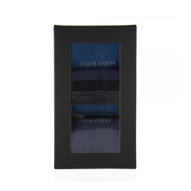 BOSS Hugo Boss Boss Black Cotton socks in a triple pack Design Box