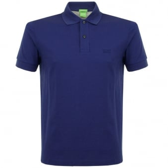 Boss Green C-Firenze Logo Open Blue Pique Polo Shirt 50292333