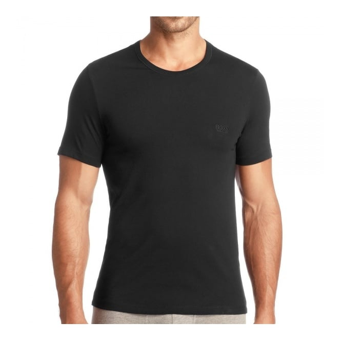 8bb5f42c BOSS Hugo Boss 3 Pack Black Cotton T-Shirt | Stuarts London