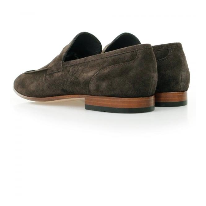 2dbf629f028 BOSS HugoArtiloseo Dark Brown Suede Loafer Shoes 50310478
