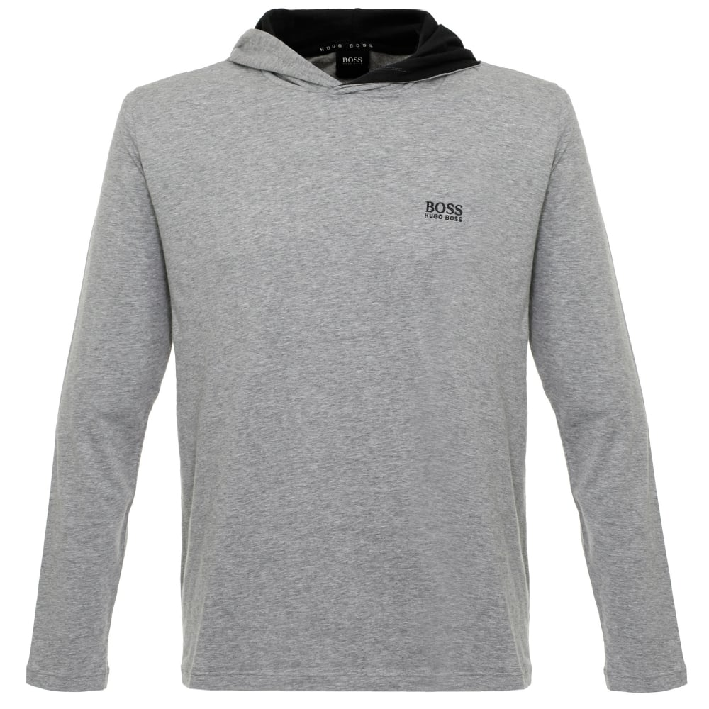 916ecb92c Hugo Boss Clothing Store | Hooded Medium Grey T-Shirt