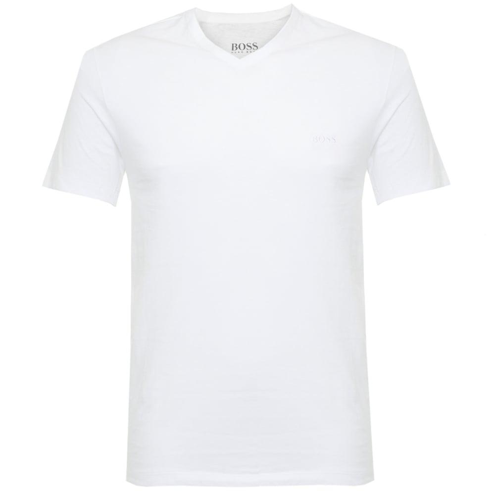88e3b881a5e Hugo Boss Triple Pack V-neck White T-Shirt 50325389