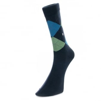 Burlington Norfolk The Original Cotton Navy Socks 201866137