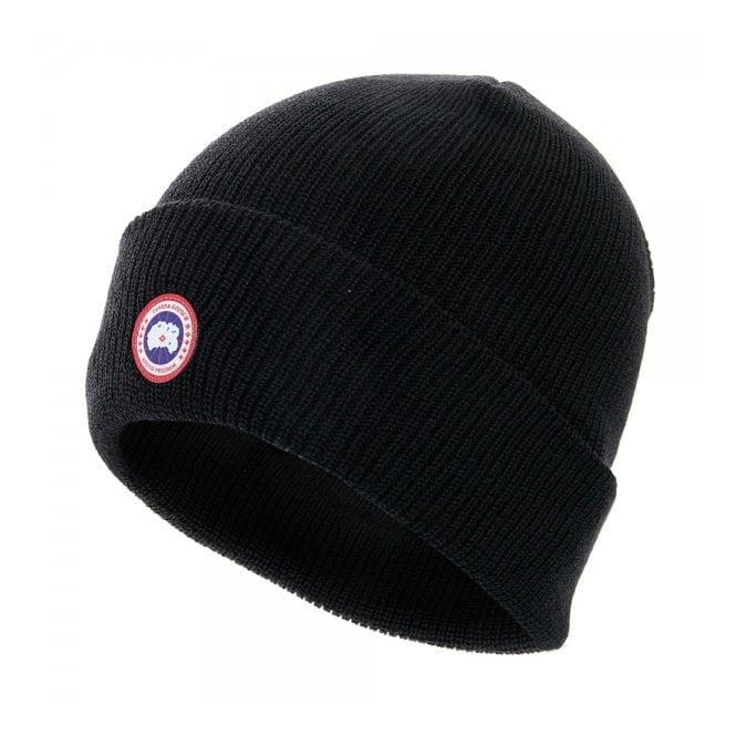 Canada Goose Black Merino Wool Beanie 5219M - Men s Beanie eb9f441bccf