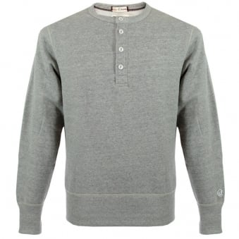 Champion Henley Sweatshirt Grey Heather D320F14 T002