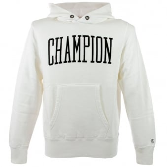 Champion Vintage White Hoodie D414F14 T001