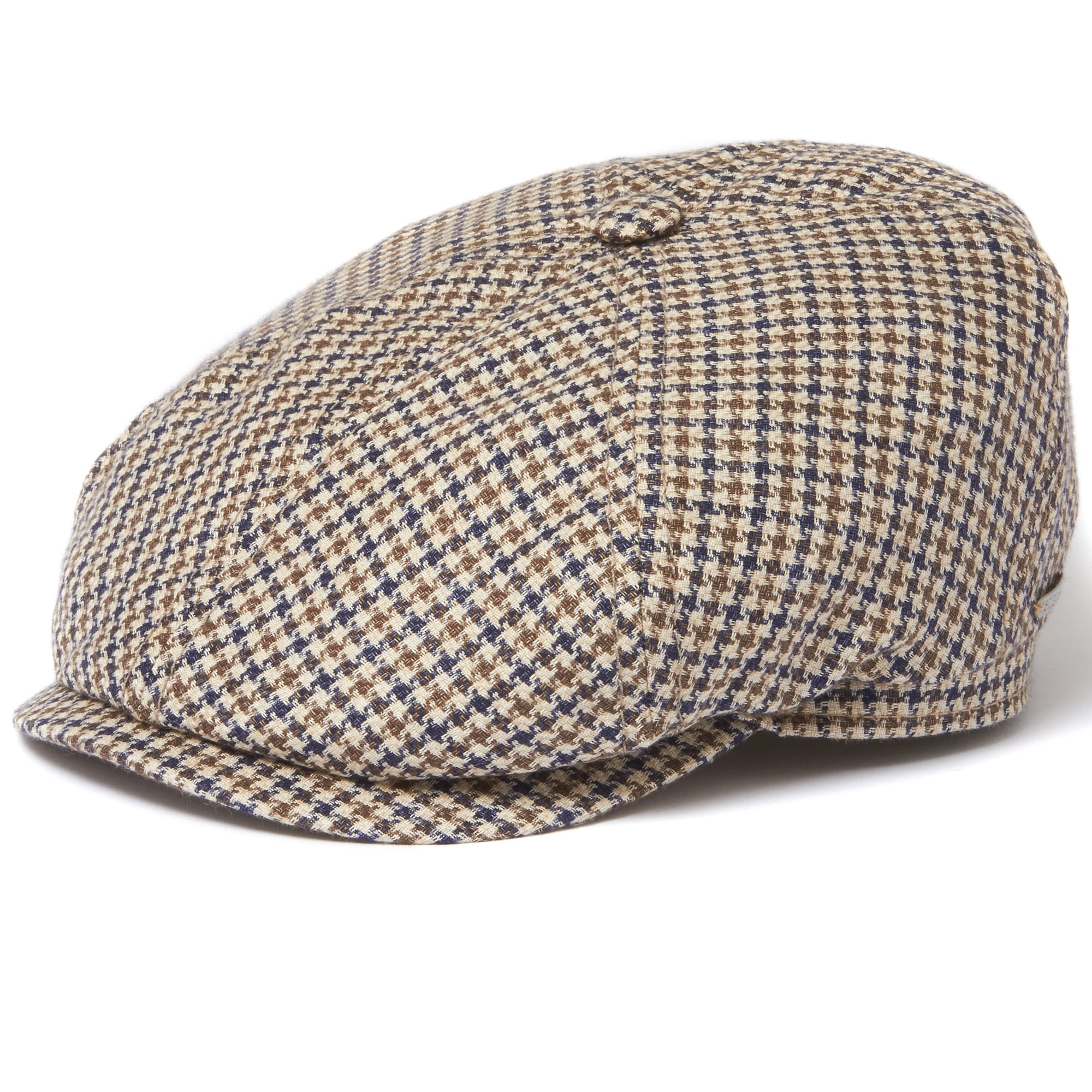 243409d27fa Stetson Houndstooth Narrow Check 6-Panel Flat Cap