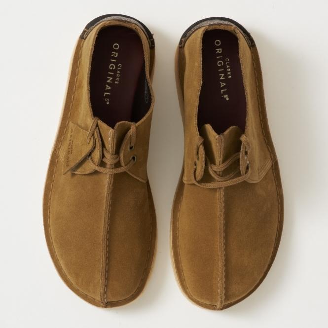 Clarks Olive Desert Trek Suede Shoe