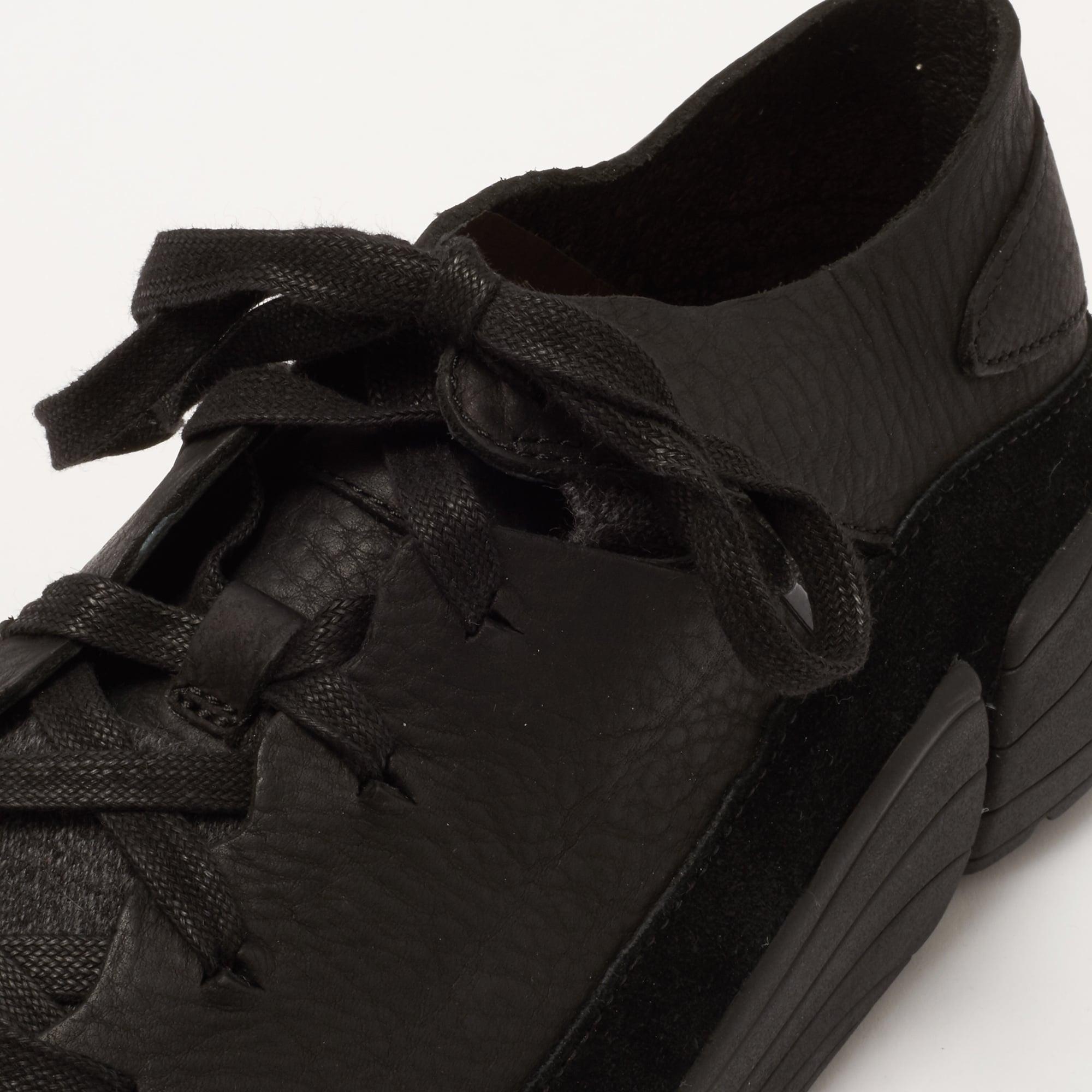 4034e1c8b8a4e3 Clarks Originals Black Leather Trigenic Evo Shoes 283267