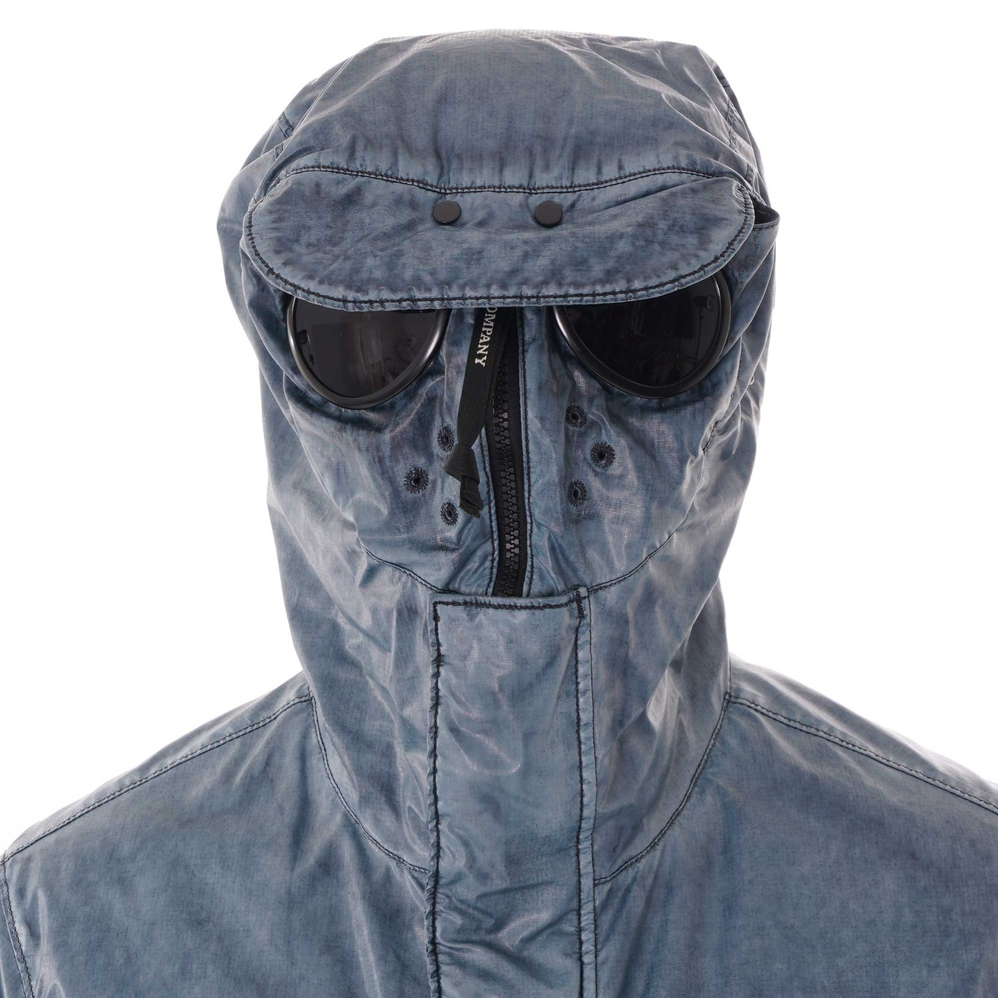 CP Company MBS Special Dyed Explorer Goggle Jacket Blue