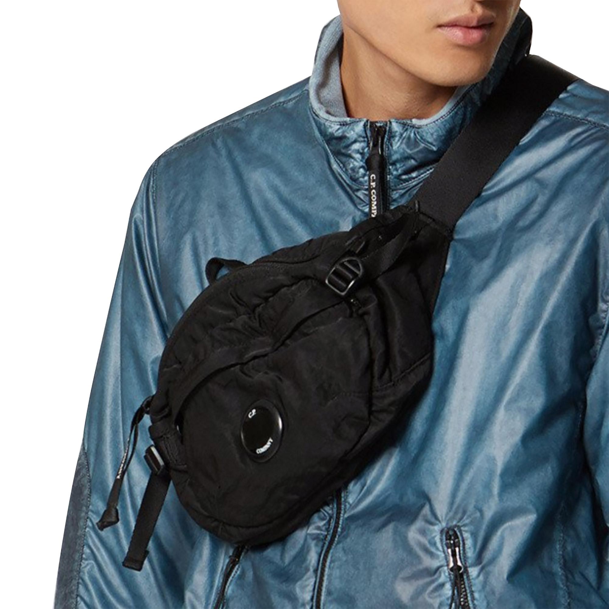 CP Company Nylon Satin Waist Bag Black
