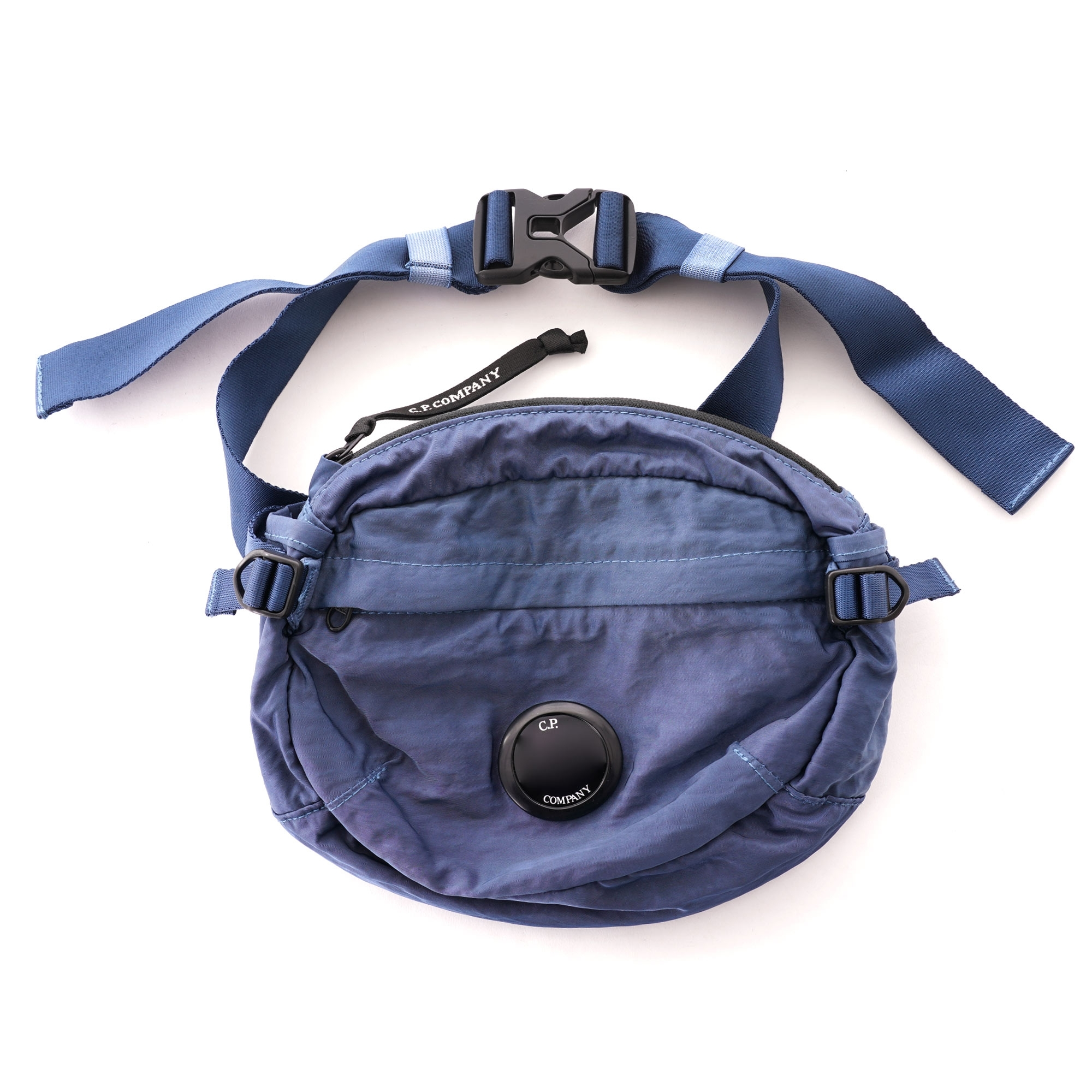 CP Company Nylon Satin Waist Bag Denim