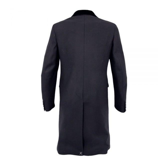 6e6aefbf6fad Crombie Black Retro Wool Coat 3254N