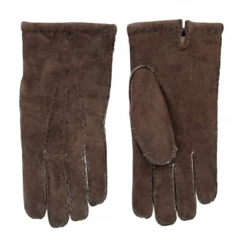 Dents Mahogany Brown Lambskin Leather Gloves 5-1553MOH