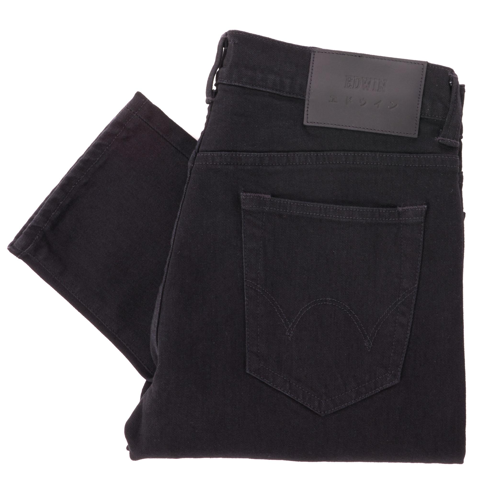 Edwin ED 80 Slim Tapered Jeans CS Power Black Denim