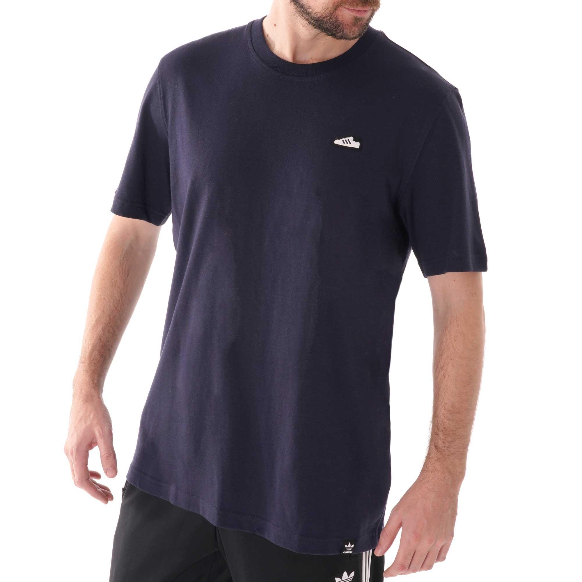 Adidas Originals Embroidered Sneaker T Shirt Navy (FM3377)
