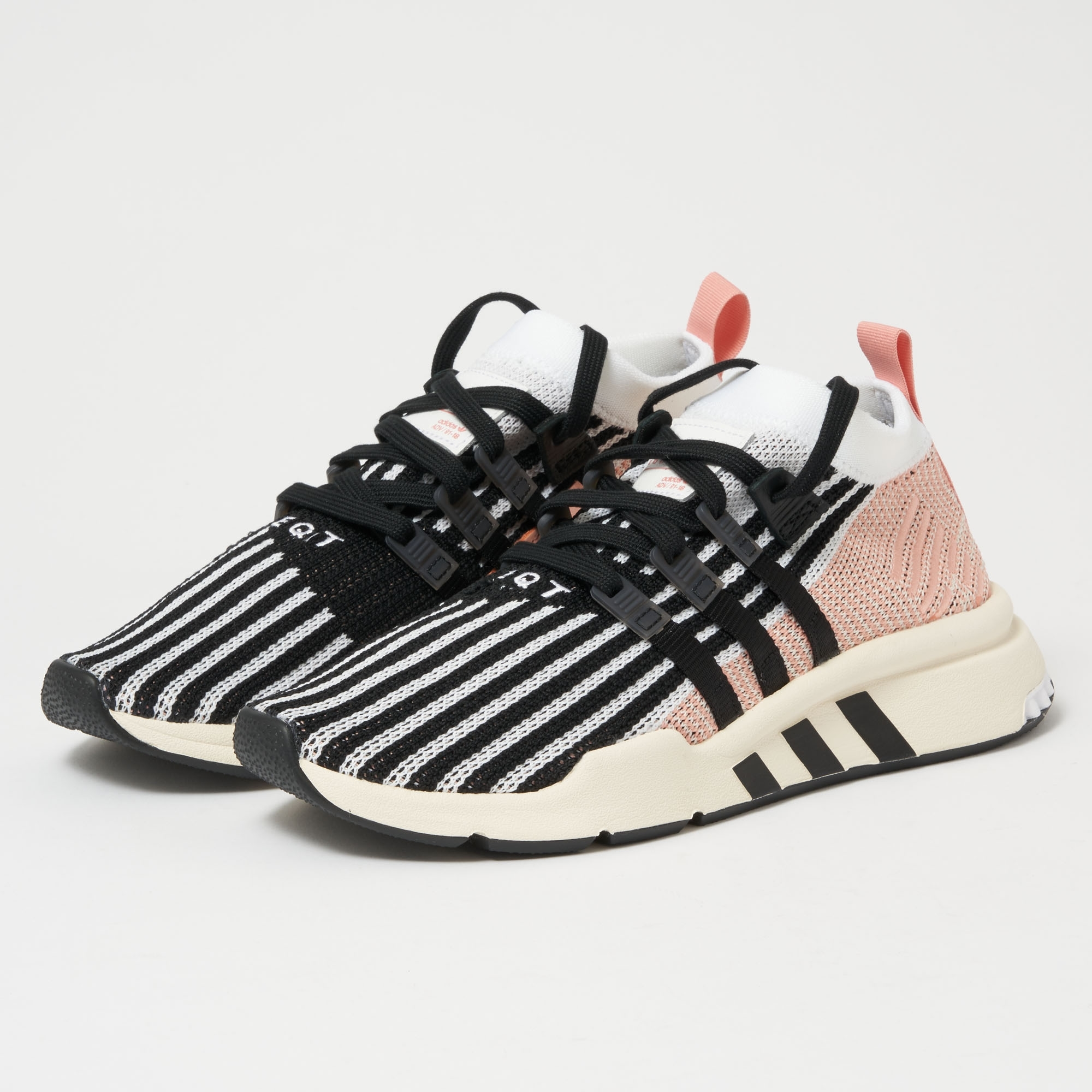 new arrival 25d71 1bc47 EQT Support Mid ADV Primeknit - FTWR White, Core Black amp Trace Pink