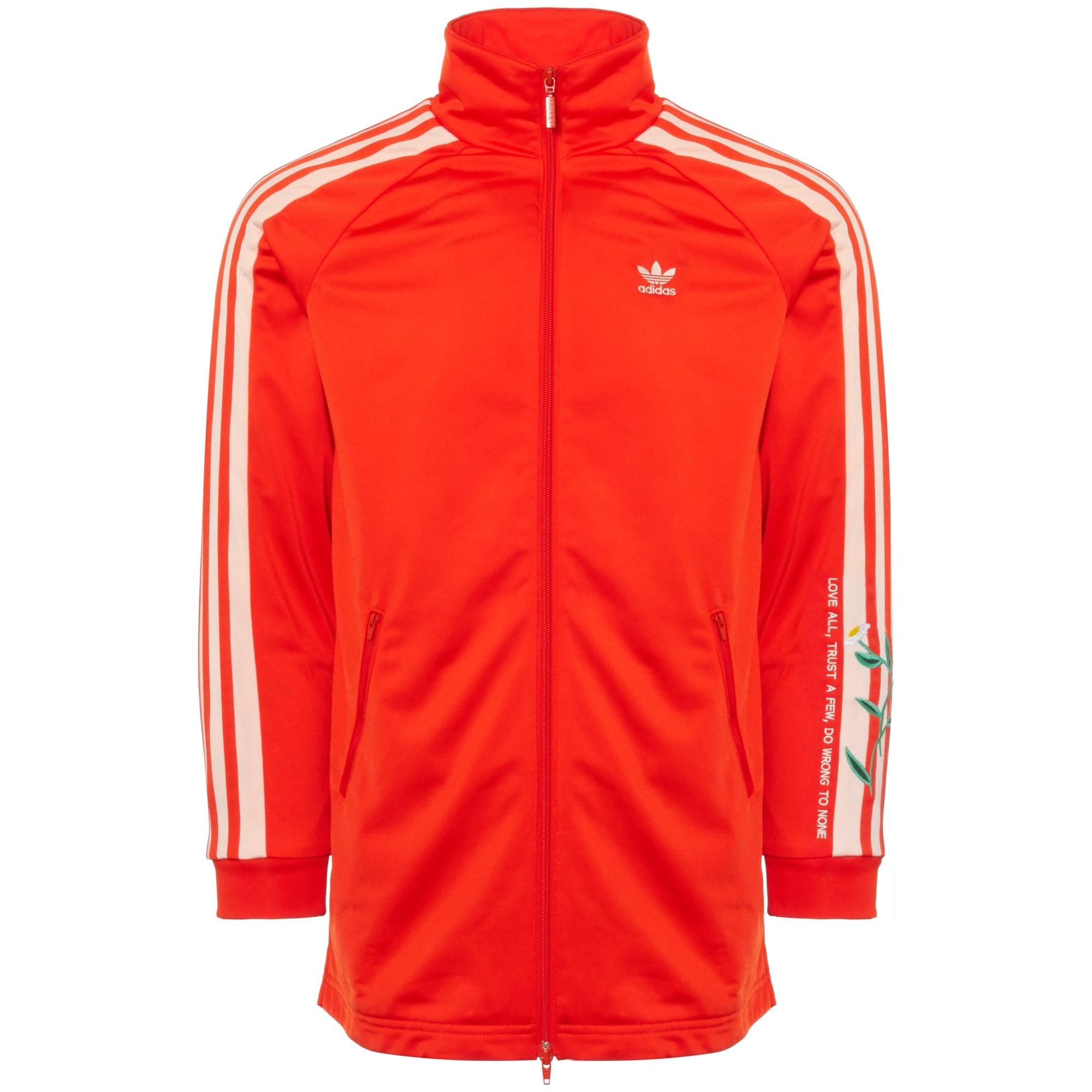 Fashion Long Women Track Jacket Bold Orange