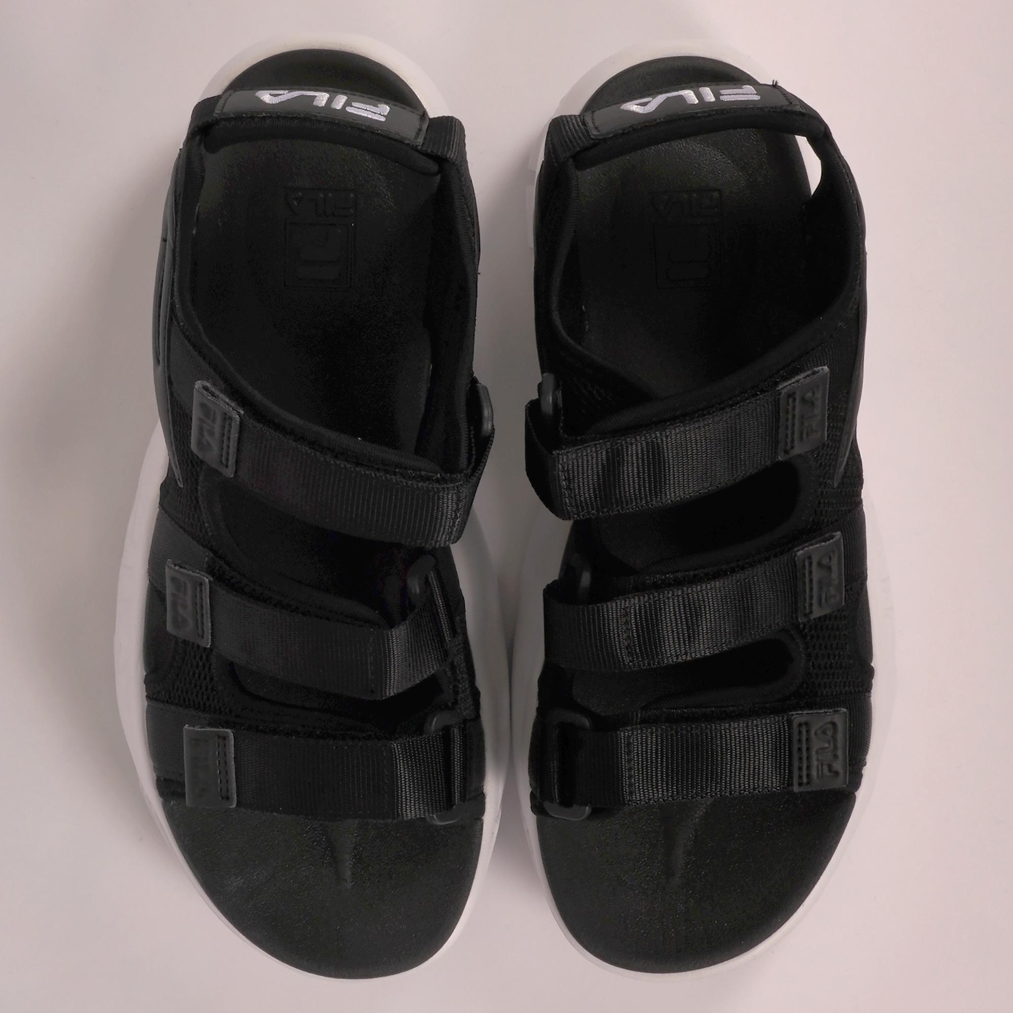 fila disruptor sandals all black