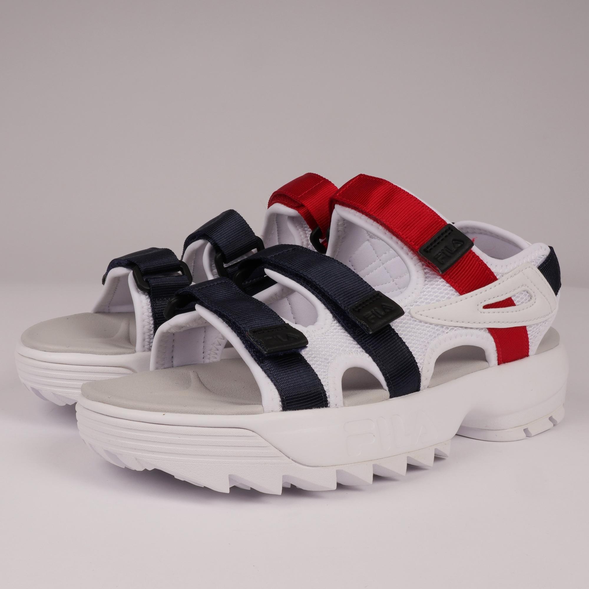 white red women sandals