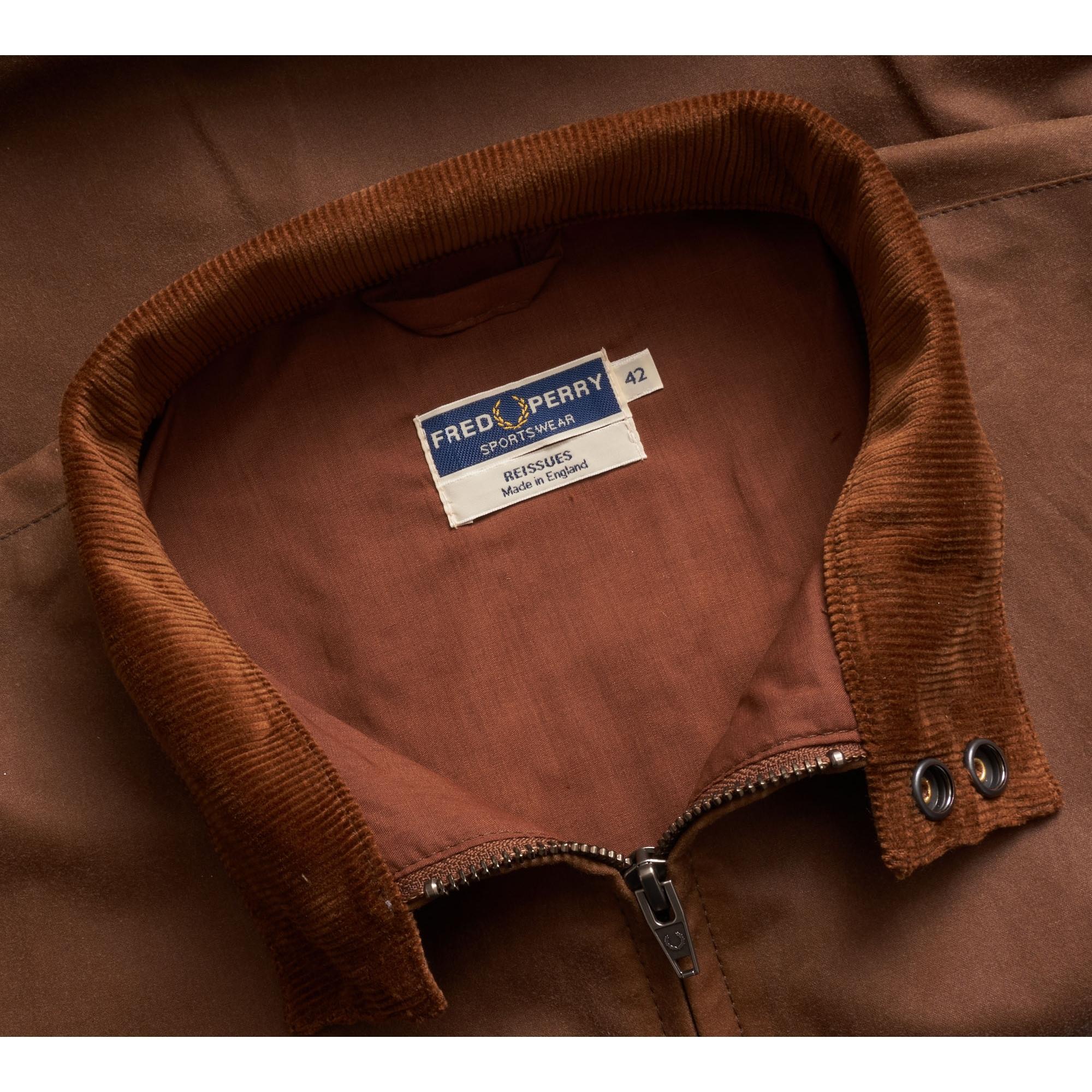 00602b07f2e Fred Perry Made In England Waxed Harrington Jacket