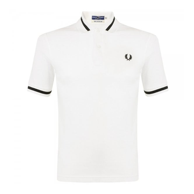 ddcd89d0 Fred Perry The Single Tipped Snow White Polo Shirt M2 129