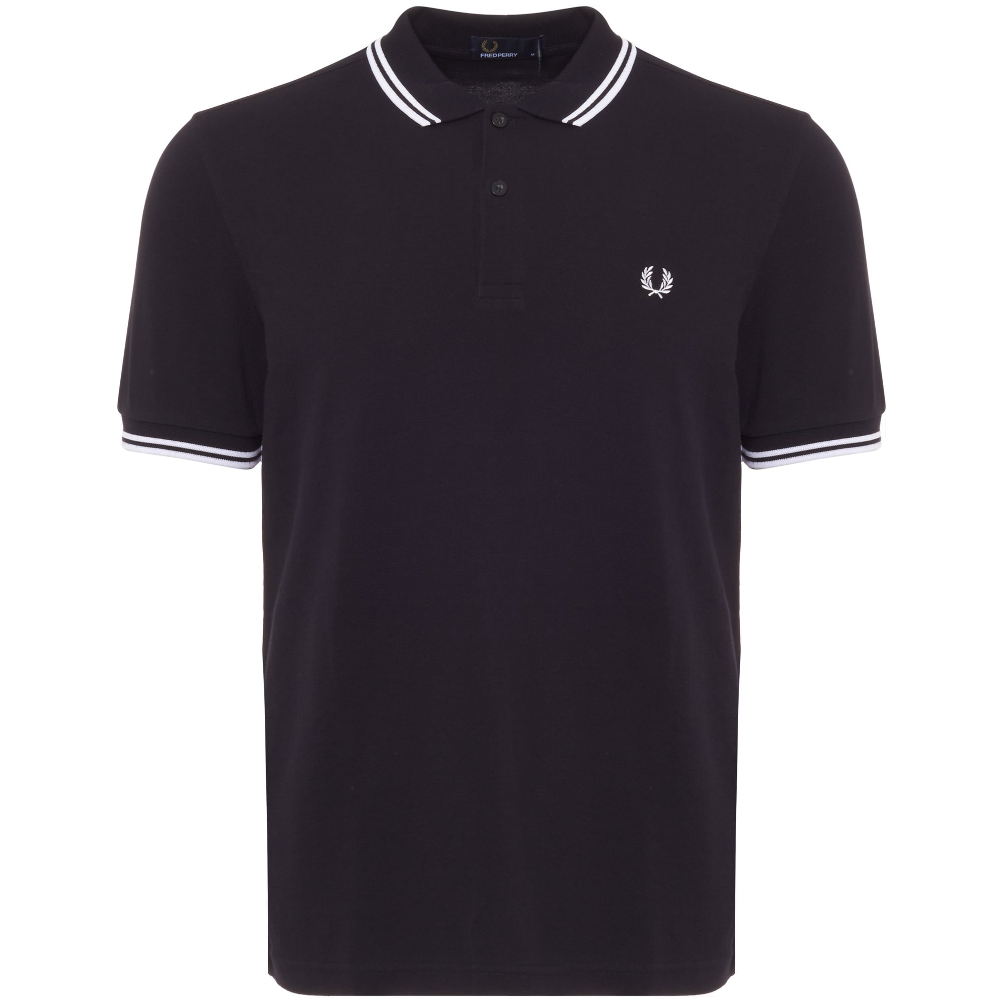 0b24a9a6c738 Fred Perry | Twin Tipped Navy Polo Top M3600 238