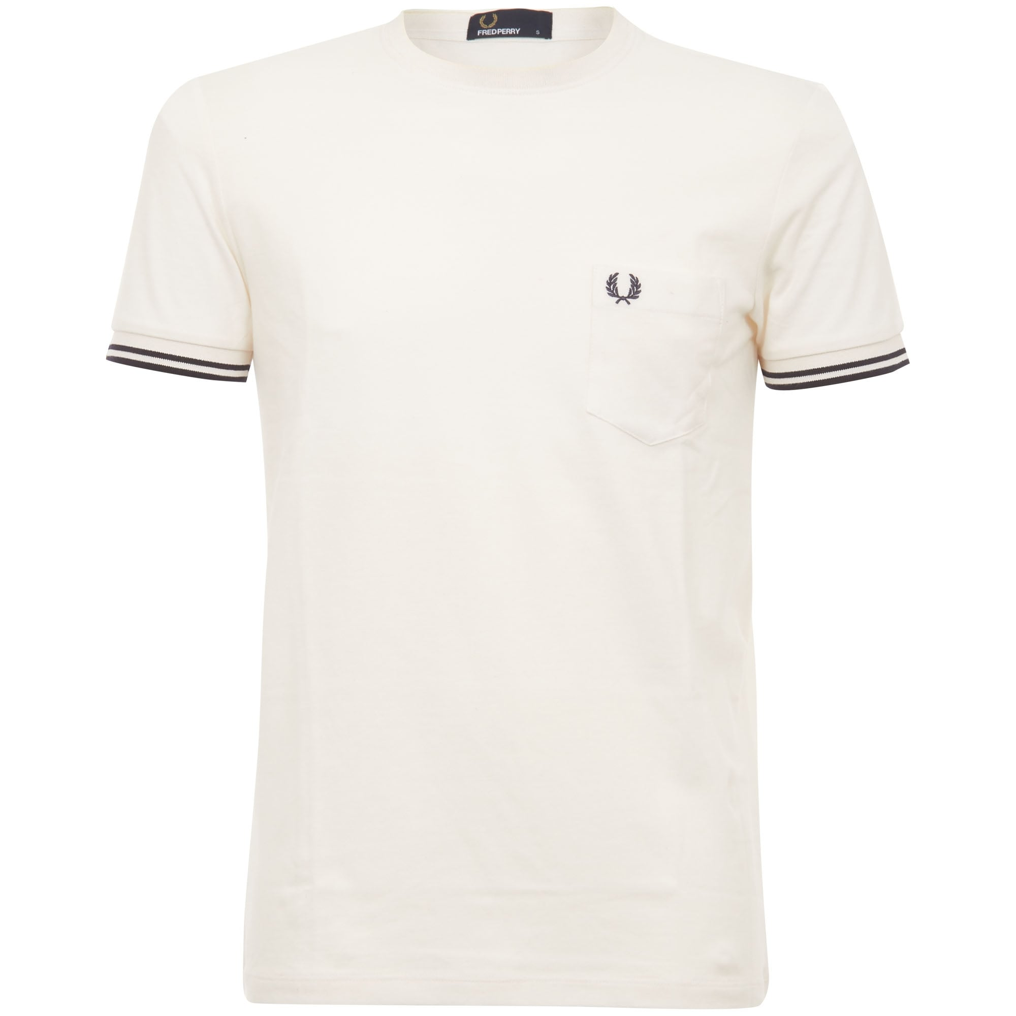 free delivery bright in luster sale retailer Fred Perry Authentic Fred Perry Twin Tipped Pique T-Shirt Cream M2536