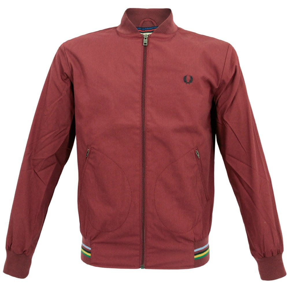 fred perry x bradley wiggins tipped rib maroon bomber. Black Bedroom Furniture Sets. Home Design Ideas