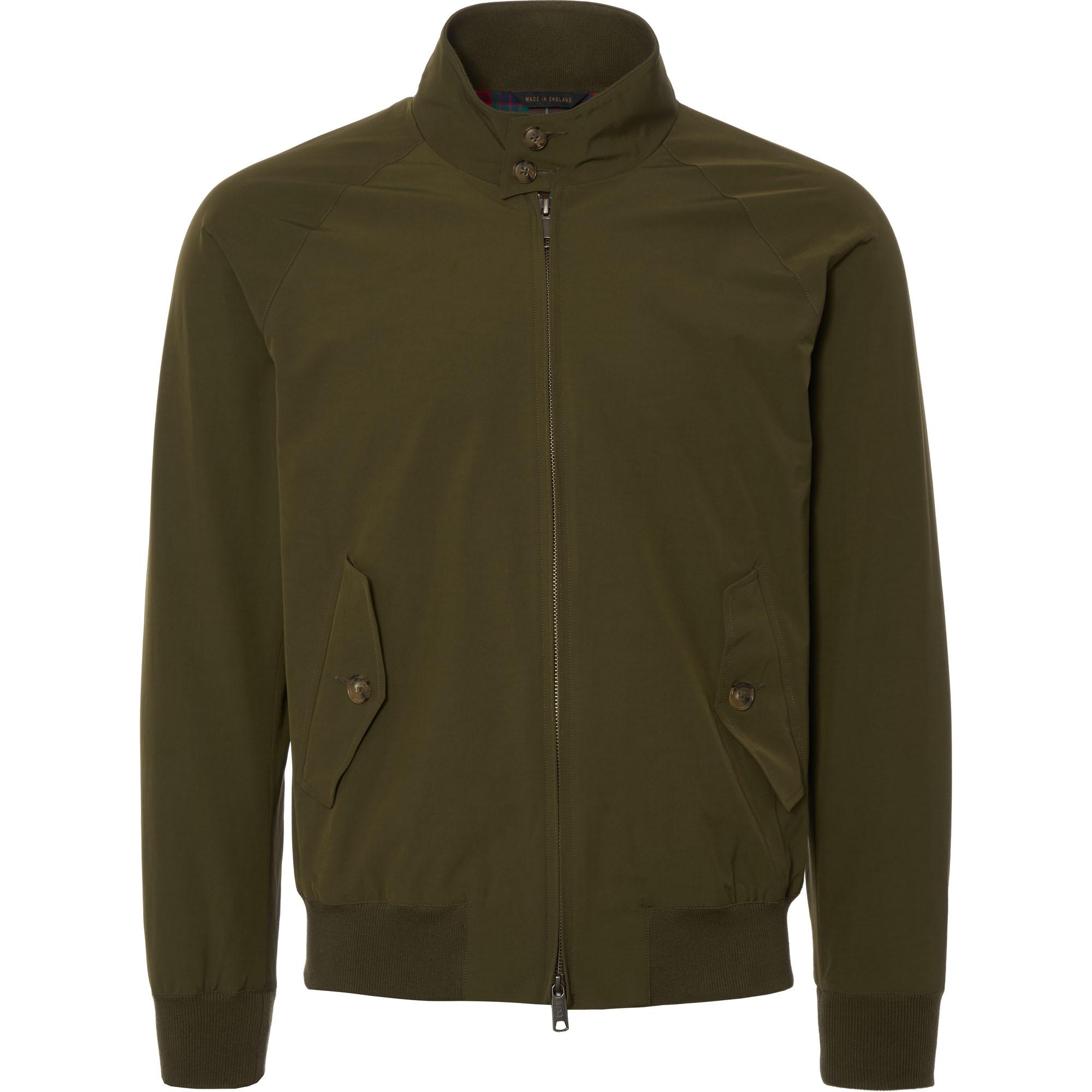 26a5265cfc Baracuta G9 Slim Fit Harrington jacket Military Green