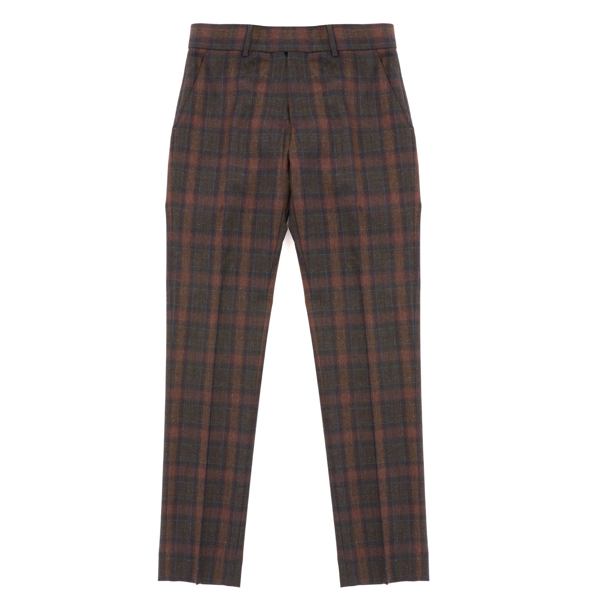 Tartan Check Trousers - Sage
