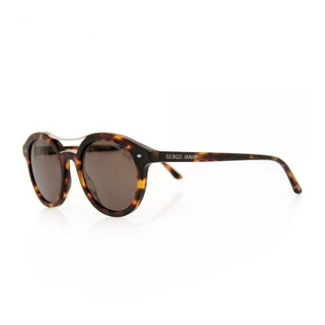 d62b32bea43 Giorgio Armani Retro Round Tortoise Sunglasses 0AR8007
