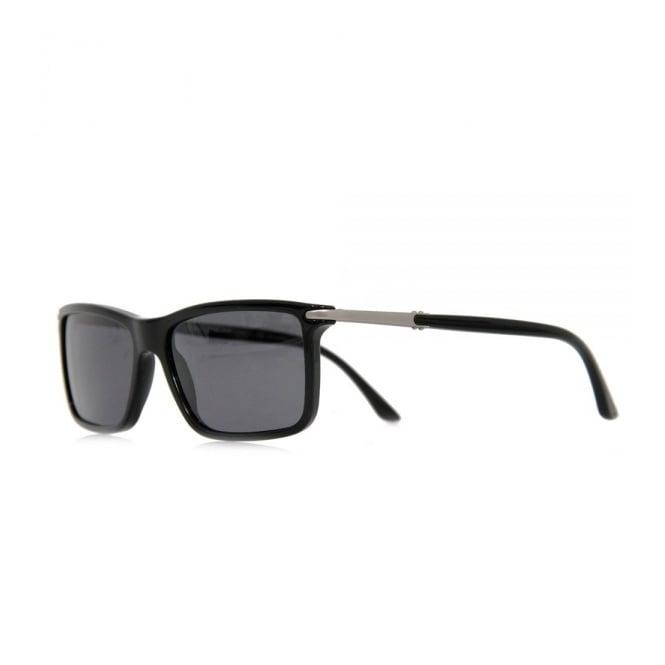 a3ab8fb9c417 Giorgio Armani Rectangular Black Sunglasses AR8010