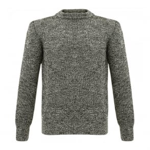Gloverall Humbug Black Wool Jumper X1017KW