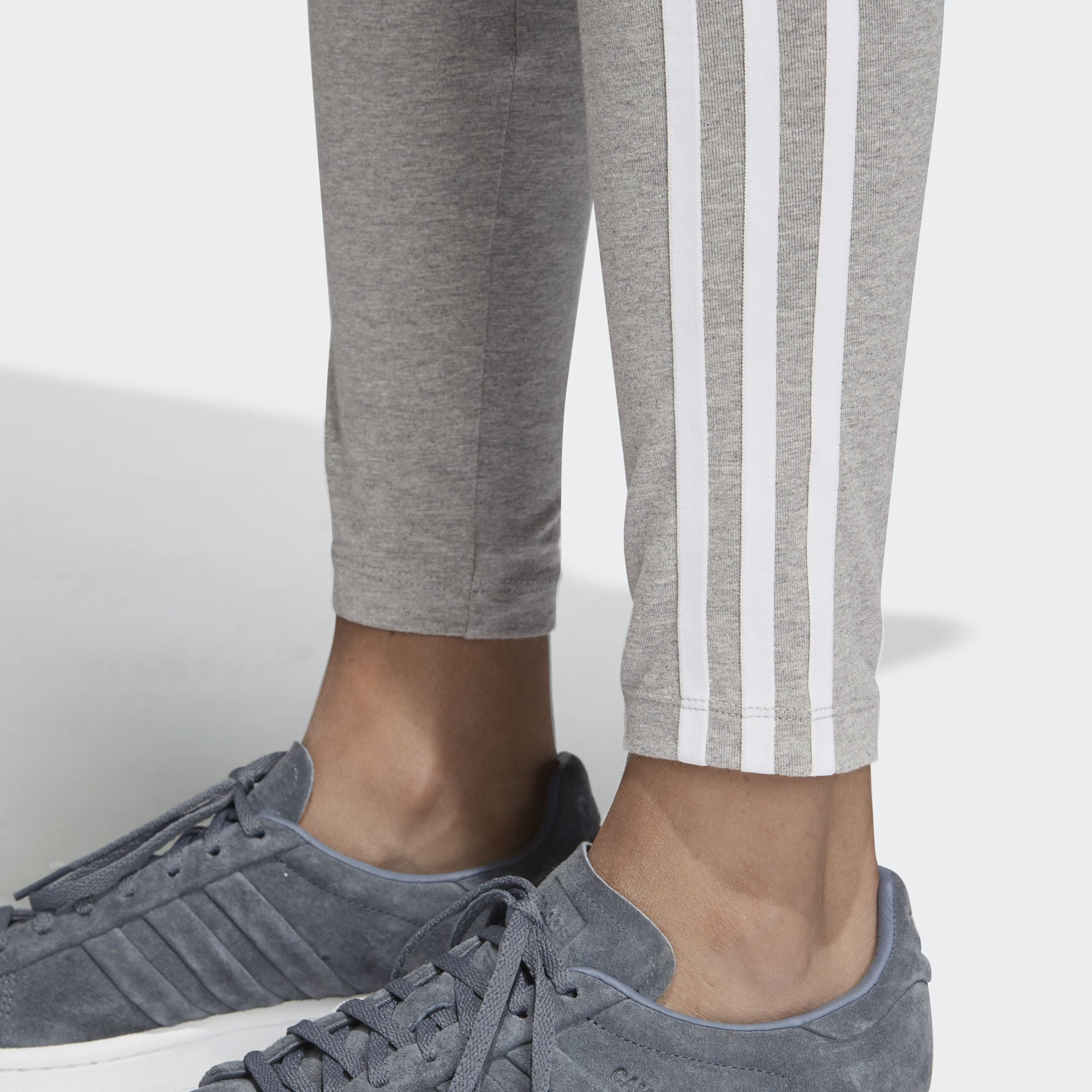 b5e1871eff2 Adidas Grey 3 Stripe Tights CY4761-3   Stuarts London