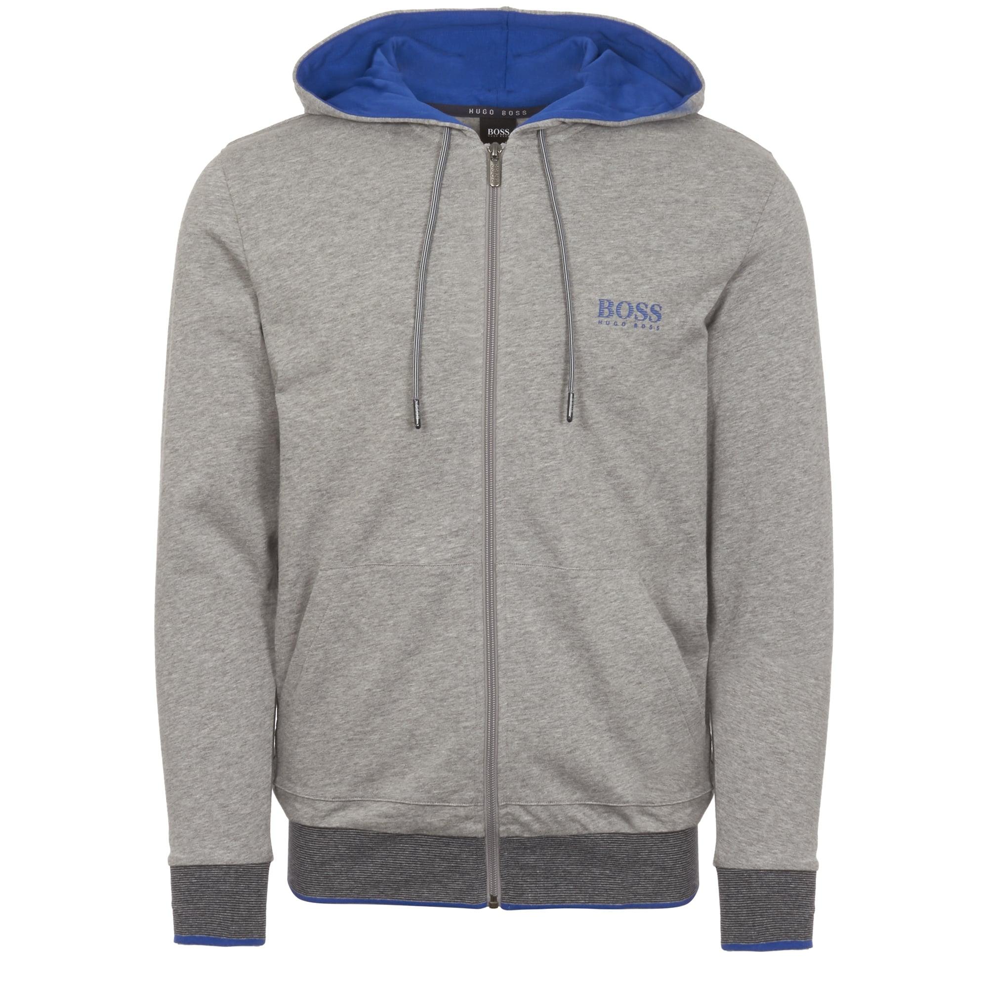 77625fecec5 Hugo Boss Grey Zip through hooded sweatshirt 50372009-GRY
