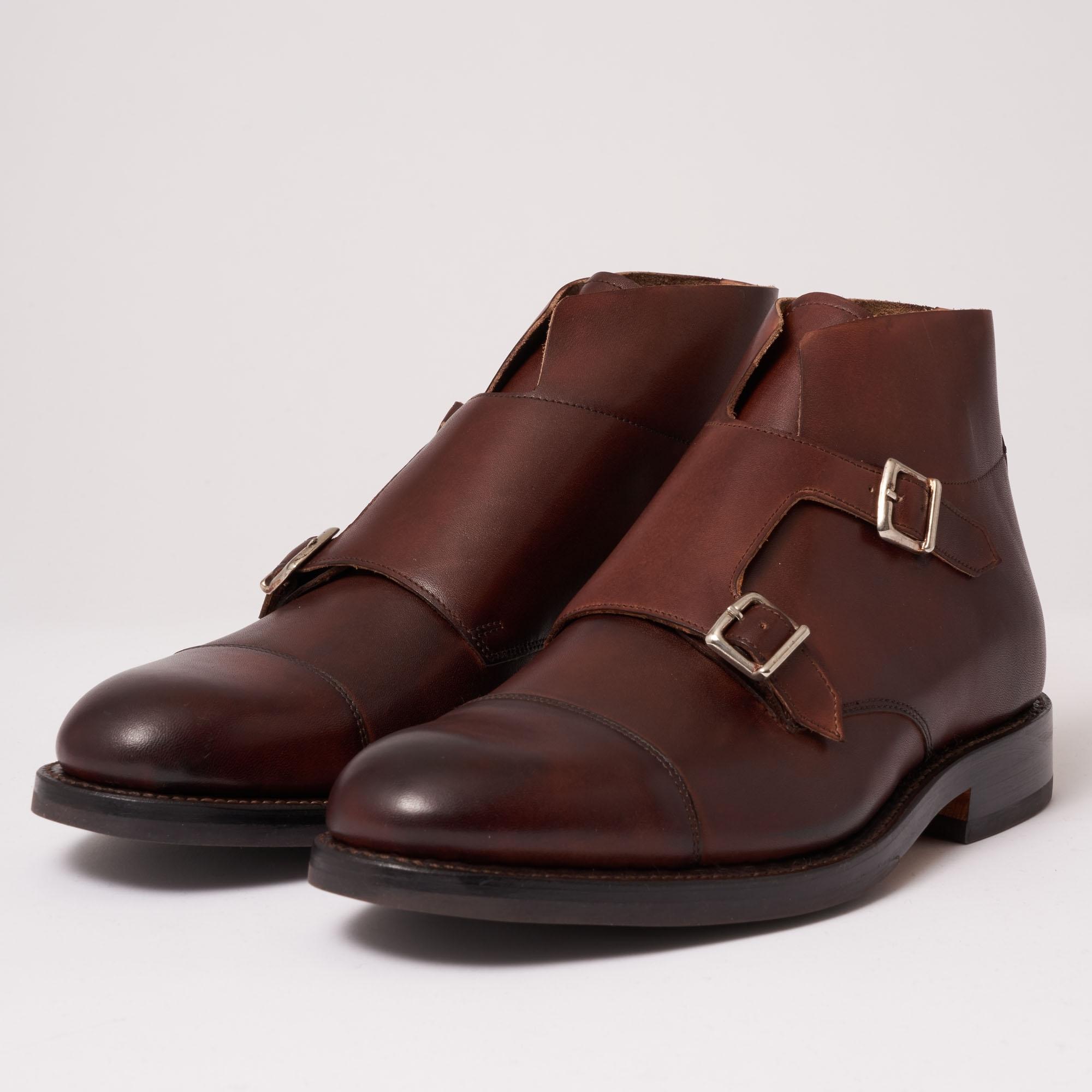 Grenson Hansel Double Monk Strap Boot | Dark Brown | 111813