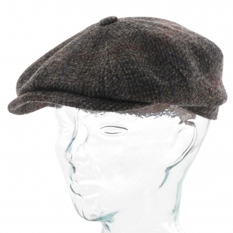 980c26b8202c2d Harris Tweed Flat Cap - Grey Check · Stetson Hats ...