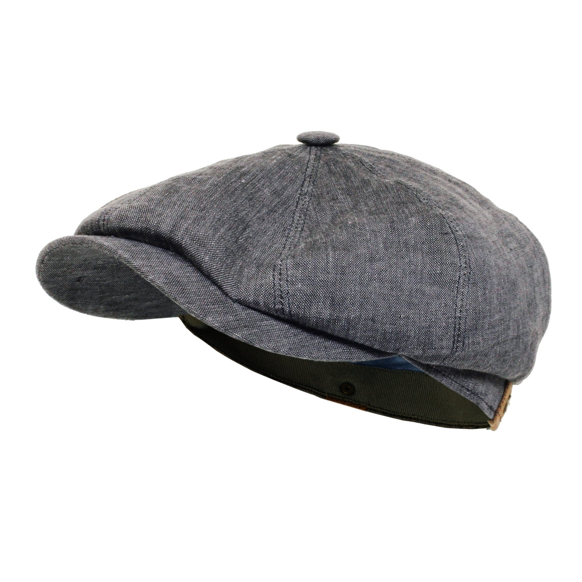 100/% Linen Newsboy Cap Black One Size