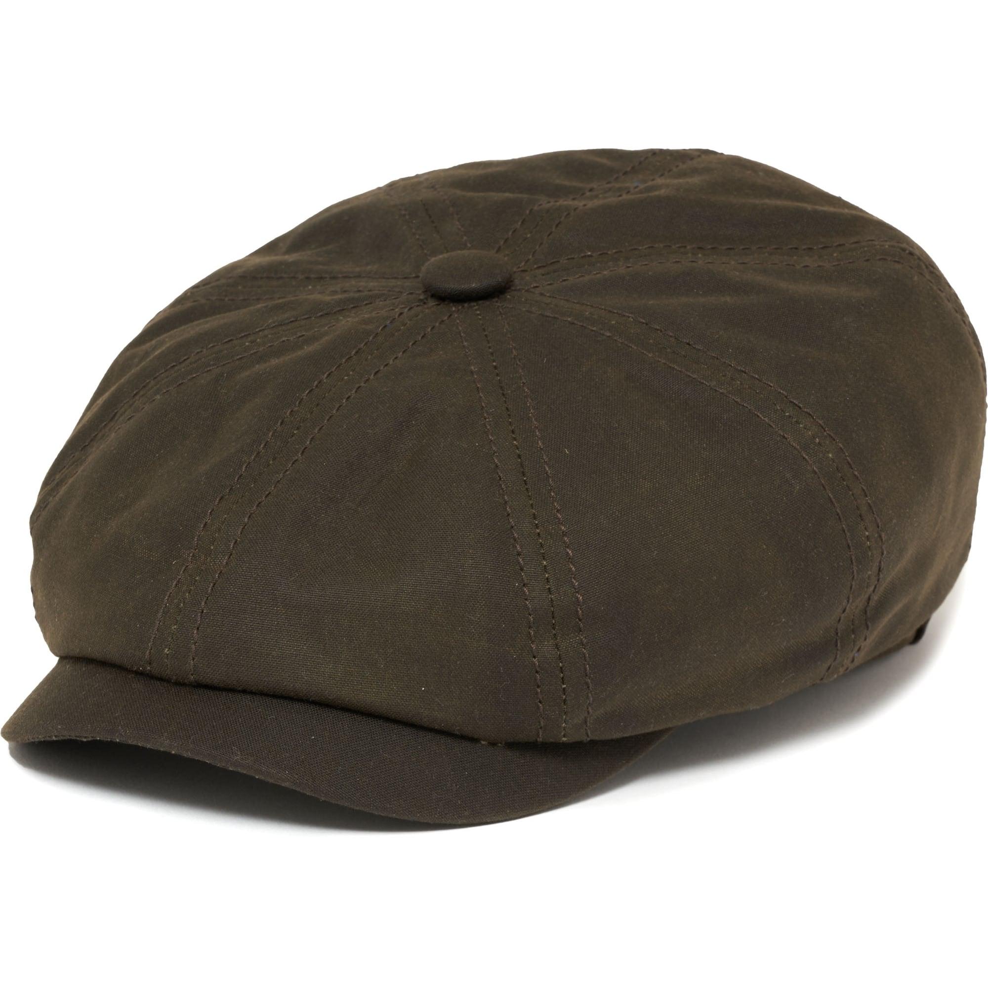 Hatteras Waxed Newsboy Cap- Green 7214dd2ee3d