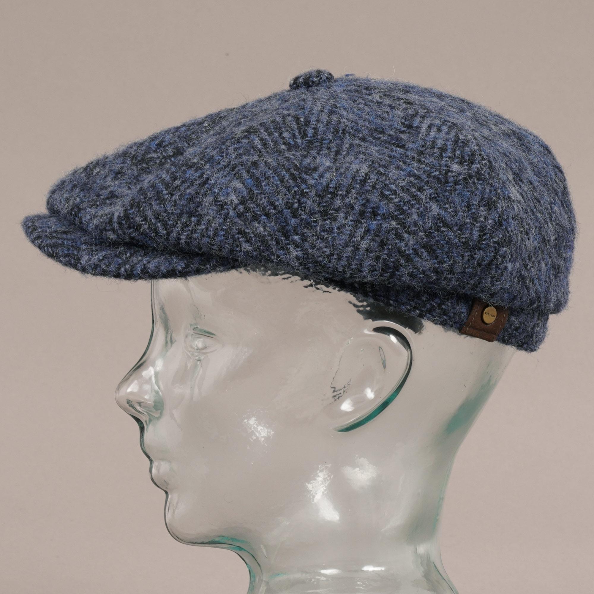 522d5dca Stetson Hatteras Wool Bakerboy Cap | Blue | 6840502-322