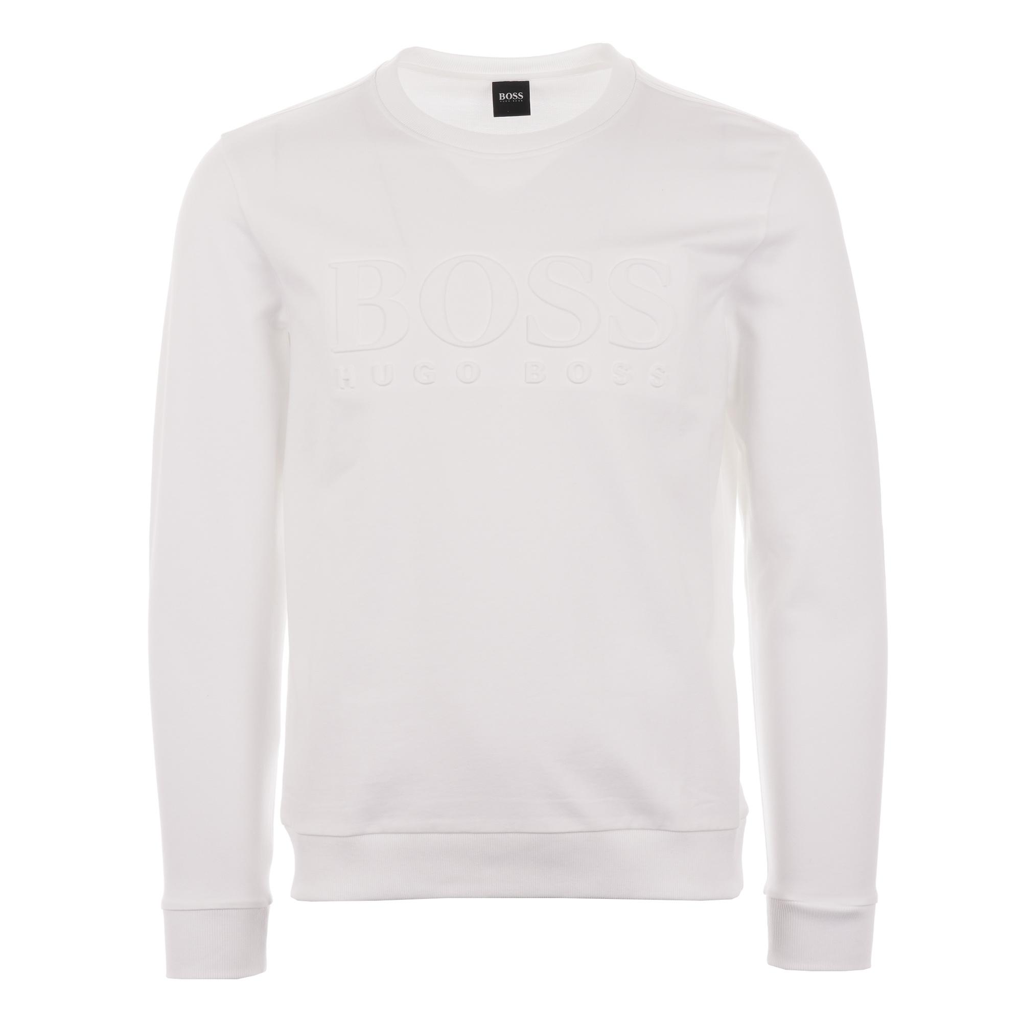 Ellesse 90/'s Outline Sweat in White embroidered crew sweatshirt jumper SALE