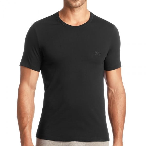 hugo boss 3 pack black cotton t shirt 50236738