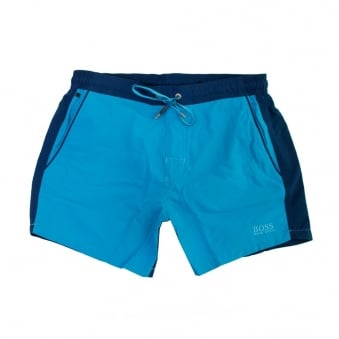 Hugo Boss Black 2 Tone Blue Beachwear Shorts 50286801
