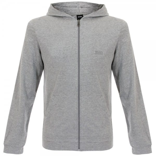 Hugo Boss Black Hooded Medium Grey Sweatshirt Jacket 50283177