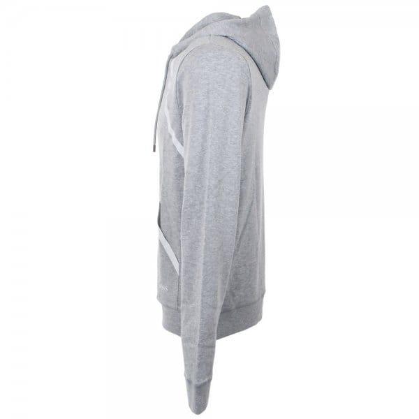 Hugo Boss Black Clothing Shirt Hooded Light Grey Sweatshirt