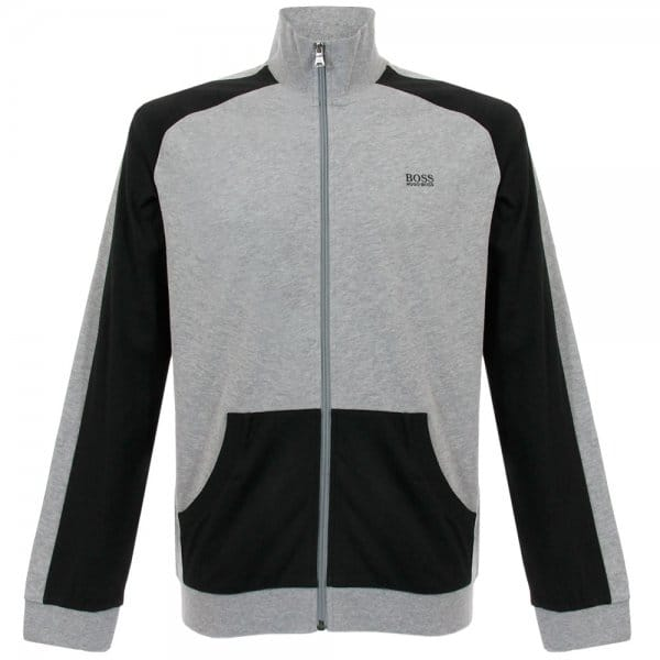 Hugo Boss Black Jacket Zip Medium Grey Track Top 50283198